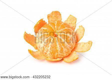 Tasty Fresh Mandarin Isolated On White Background