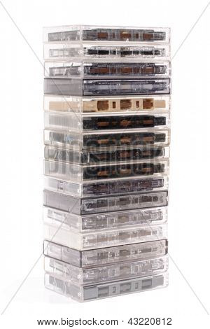 Photo of Audio cassette pile