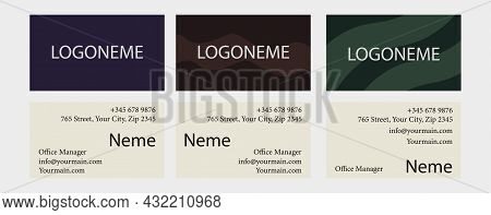 Business Card Collection. Fashionable Templates For Companies And Firms. Contact Information For Adv