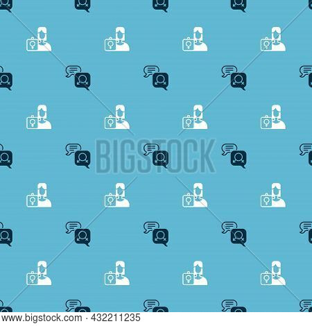 Set Gender Equality And Feminist Activist On Seamless Pattern. Vector