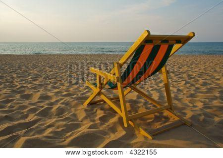 Transat At The Beach At Sunset