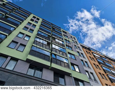 Residential Building. Building Architecture. Apartment Building. Apartments.