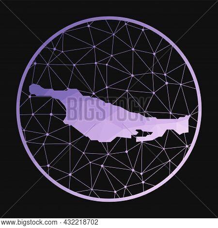 Little San Salvador Island Icon. Vector Polygonal Map Of The Island. Little San Salvador Island Icon