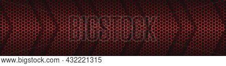 Carbon Fiber Hexagonal Arrowheads. Black Carbon Fiber Hexagon Texture.