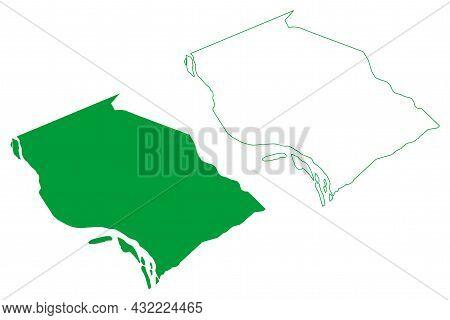 Sao Bras Municipality (alagoas State, Municipalities Of Brazil, Federative Republic Of Brazil) Map V