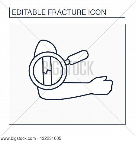 Diagnostic Line Icon. Complex Diagnostic. Examination Humeral Fracture. Healthcare Concept. Isolated