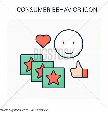Routine Response Color Icon. Buying Same Products Everyday. Purchased Without Thought.consumer Behav
