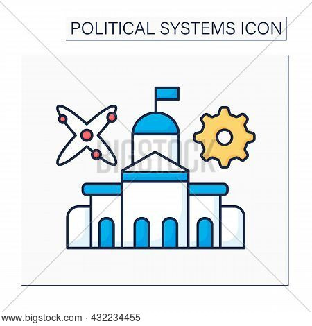 Technocracy Color Icon. Government Form. Society Or Industry Control By Elite Of Technical Experts.p