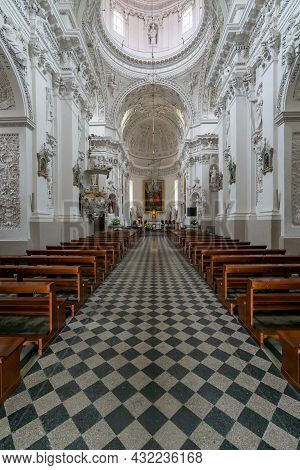 Interior View Of The Church Of Saint Peter And Saint Paul In Vilnius