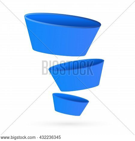 Sales Funnel - Digital Marketing Concept. Lead Generation, Customer Conversion And Making Money Onli