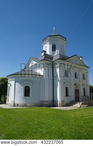 Moscow, Russia - June 17, 2021: Kuskovo Estate Museum. The Church Of The Origin Of The Honest Trees