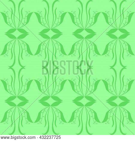 Pattern Green Abstraction Wallpaper Graphics Design Flora