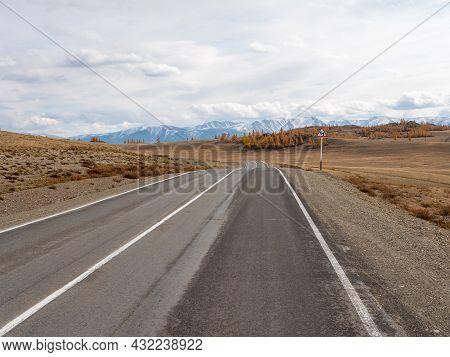 Chuysky Tract Is The Most Picturesque Road In Russia. Altai Mountains. Severo-chuysky Ridge, Altai R