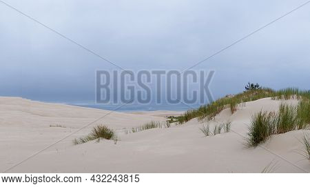 Endless Wandering Sand Dunes In Slowinski National Park On The Baltic Sea In Northern Poland