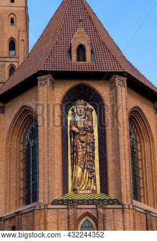 Vertical View Of The Historic Malbork Castle In Northern Poland