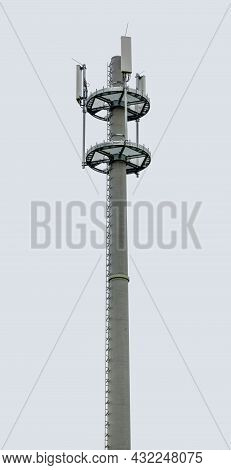 Tip Of A Radio Tower With Cell Antennas