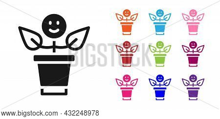 Black Bff Or Best Friends Forever Icon Isolated On White Background. Set Icons Colorful. Vector