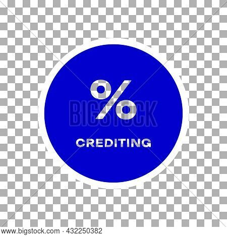 Credit And Loan Processing Transparent Icon. Percentage Crediting Concept. Fat Isolated Symbol, Sign