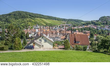 Niedernhall In The Hohenlohe District In Southern Germany At Summer Time