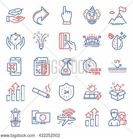 Business Icons Set. Included Icon As Dirty Water, Mountain Flag, Couple Signs. Recovery Computer, Qu