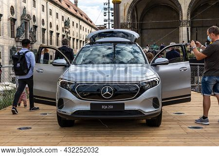 Munich, Germany - Sep 07, 2021: Iaa Mobility Open Space. Mercedes Benz Motor Show At Odeon Square. F