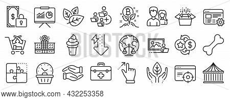 Set Of Business Icons, Such As Cross Sell, Seo Targeting, Ice Cream Icons. Loyalty Points, Energy Dr