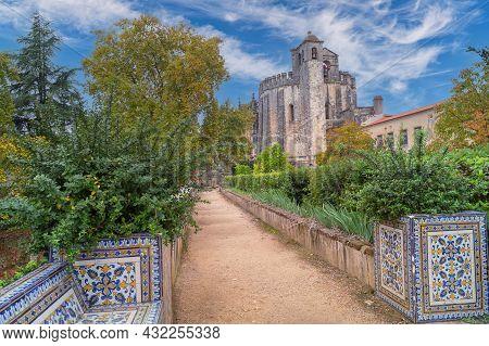 Tomar, Portugal- November 18 2014: The Cloister Of Catholic Monastery Of Tomar, Portugal.