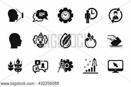 Vector Set Of Hypoallergenic Tested, Internet And Gluten Free Icons Simple Set. Cogwheel Dividers, H