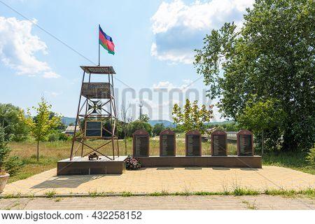 Neberdzhaevskaya, Russia - Jul 24, 2021: Monument To The Cossacks - Chernomorets Who Founded The Vil