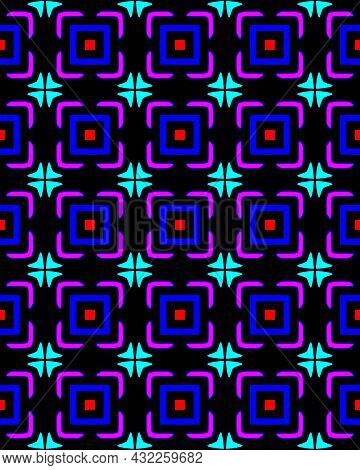 A Seamless Pattern Of Abstract Illustration Of Quadrates