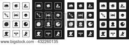 Set Mars Rover, Cosmic Ship, Satellite, Planet Saturn, Satellites Orbiting The Planet, Death Star An
