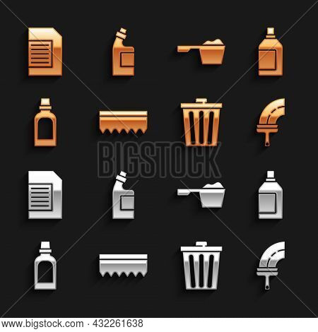 Set Sponge, Bottle For Cleaning Agent, Rubber Cleaner Windows, Trash Can, Washing Powder, Laundry De