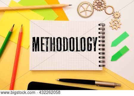 Word Writing Text Methodology. Business Concept Written Tear Sticky Note Paper.
