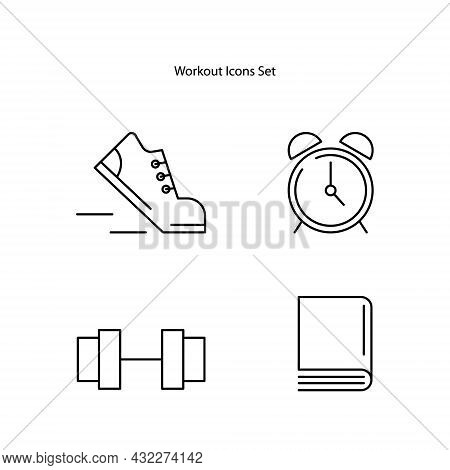 Workout Icons Set Isolated On White Background. Workout Icon Trendy And Modern Workout Symbol For Lo