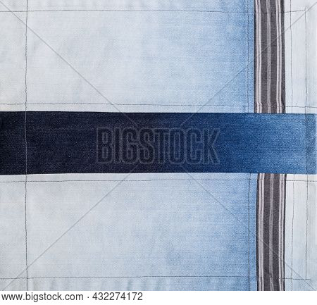 Natural Fabric Background With Different Pattern And Structure