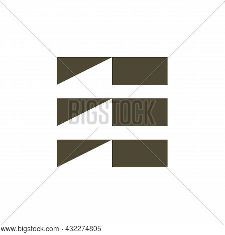 Abstract Letter E Stylish Logo Icon Flat Vector Concept Graphic Simple Stylish Design