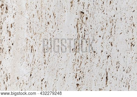 Limestone Background Texture, Close Up. Natural Photo Pattern