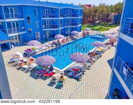Koblevo, Ukraine - August 22, 2021: Hotel Agata Breeze On The Black Sea