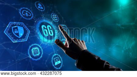 Internet, Business, Technology And Network Concept. The Concept Of 6g Network, High-speed Mobile Int