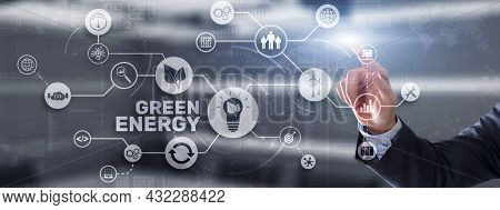 Green Energy Natural Ecology Power Electric Speed Creative. Technology Ecology Concept