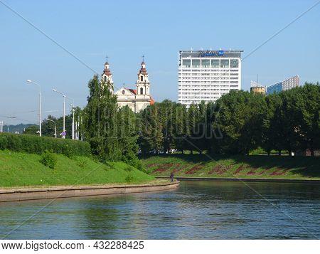 Vilnius, Lithuania - 30 Jul 2010: The River In Vilnius City, Lithuania