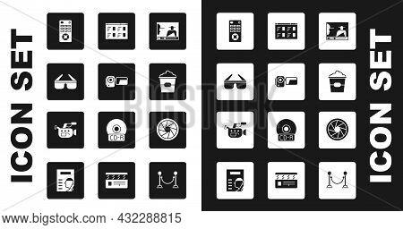 Set Online Play Video, Cinema Camera, 3d Cinema Glasses, Remote Control, Popcorn Box, Camera Shutter