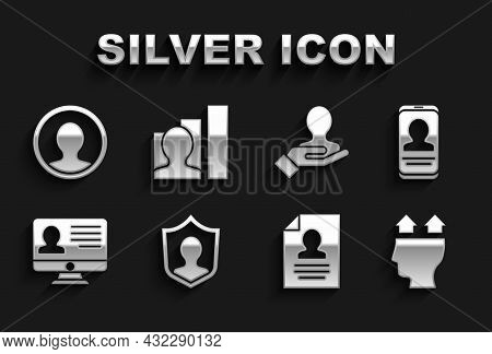 Set User Protection, Mobile With Resume, Of Man, Resume, Monitor, Hand For Search People, Create Acc
