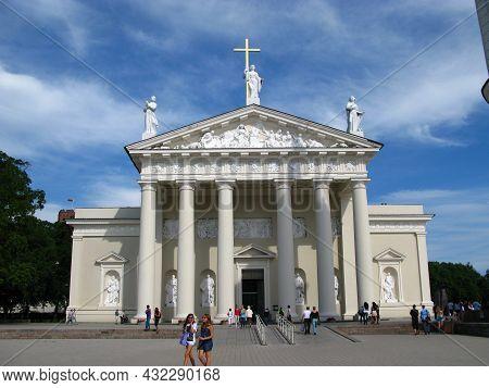 Vilnius, Lithuania - 30 Jul 2010: The Church In Vilnius City, Lithuania