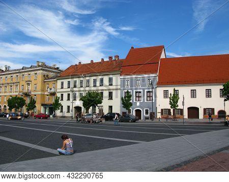 Vilnius, Lithuania - 30 Jul 2010: The Street In Vilnius City, Lithuania