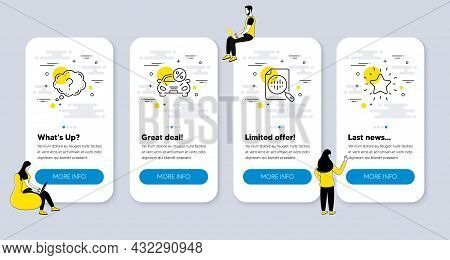 Vector Set Of Business Icons Related To Analytics Chart, Question Mark And Car Leasing Icons. Ui Pho