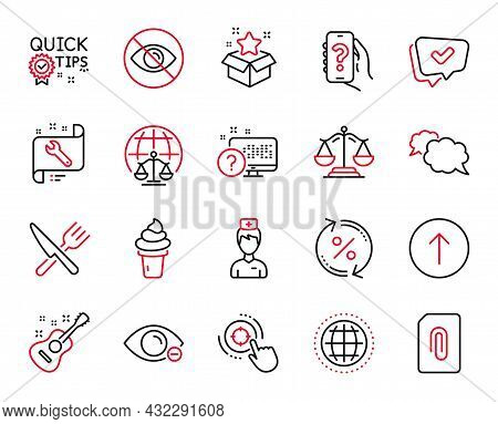Vector Set Of Business Icons Related To Not Looking, Loan Percent And Quick Tips Icons. Magistrates