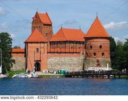 Trakai, Lithuania - 30 Jul 2010: The Medieval Castle Of Trakai, Lithuania