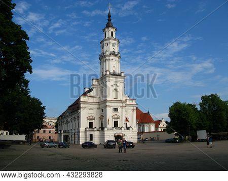 Kaunas, Lithuania - 31 Jul 2010: The Church In Kaunas City, Lithuania