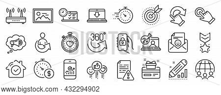 Set Of Technology Icons, Such As Touchscreen Gesture, Online Chemistry, Online Test Icons. Smile, Ph